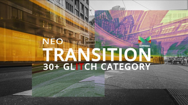 Neo Glitch Transition: After Effects Templates