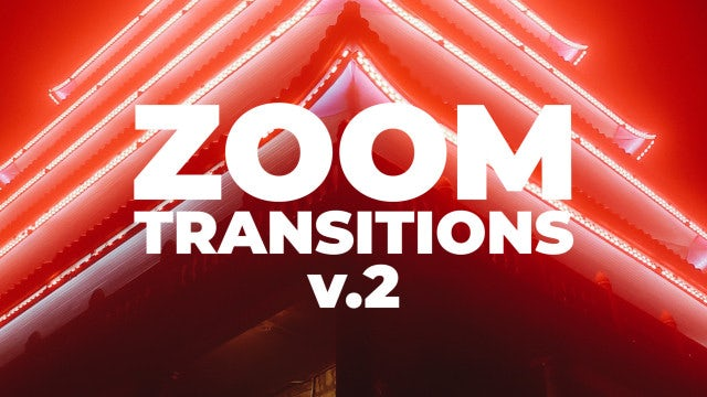 Zoom Transitions V.2: Premiere Pro Presets