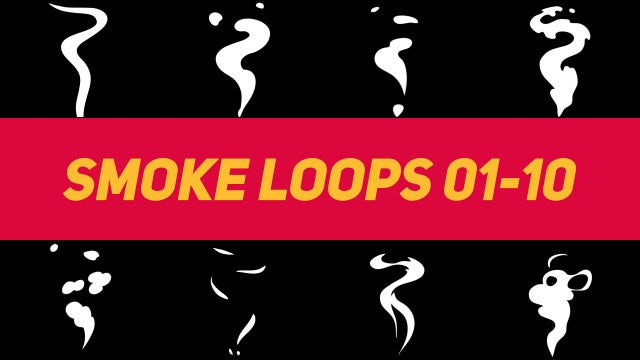 Liquid Elements Smoke Loops 01-10: Motion Graphics Templates