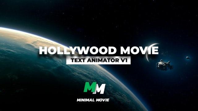 Hollywood Movie Text Animator V1: Premiere Pro Presets