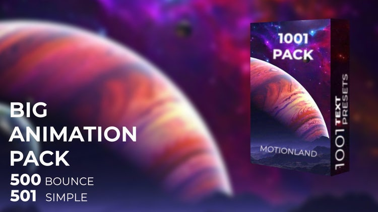 1000 Text Animation Presets: After Effects Presets