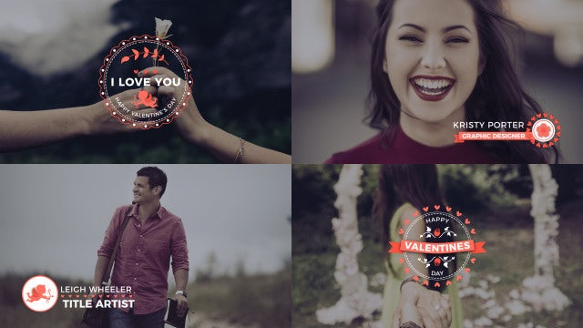 Valentine Titles & Lower Thirds: After Effects Templates