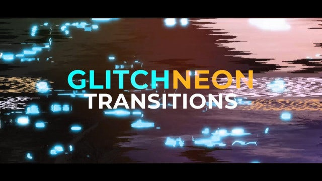 Glitch Neon Transitions: Premiere Pro Templates