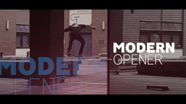 Modern Opener: Premiere Pro Templates