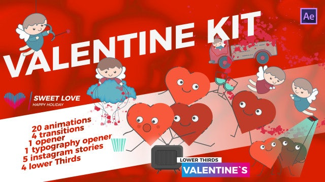 Valentine`s Day Kit: After Effects Templates
