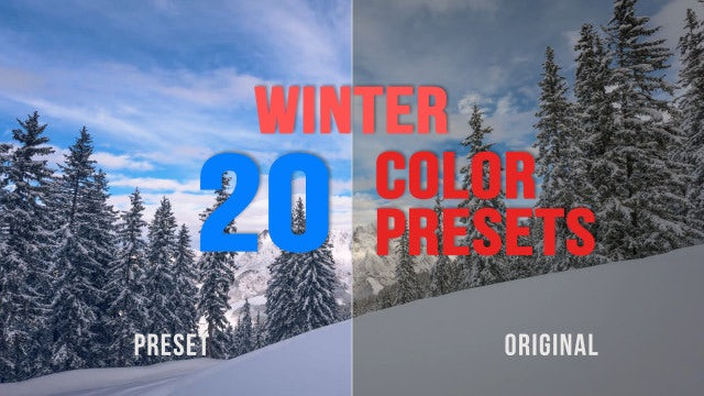 Winter Color Presets: Premiere Pro Presets