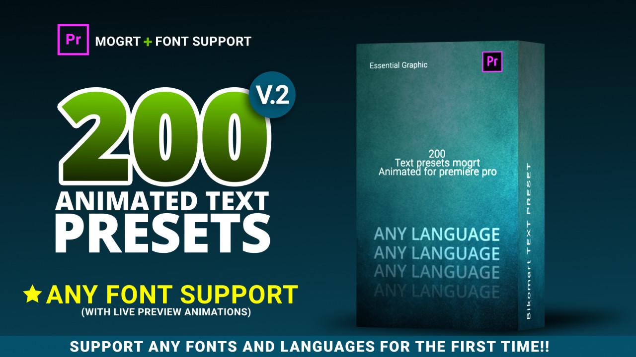200 Text Preset For Premiere Pro 167388