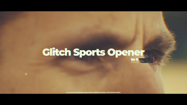 Glitch Sports Opener: After Effects Templates