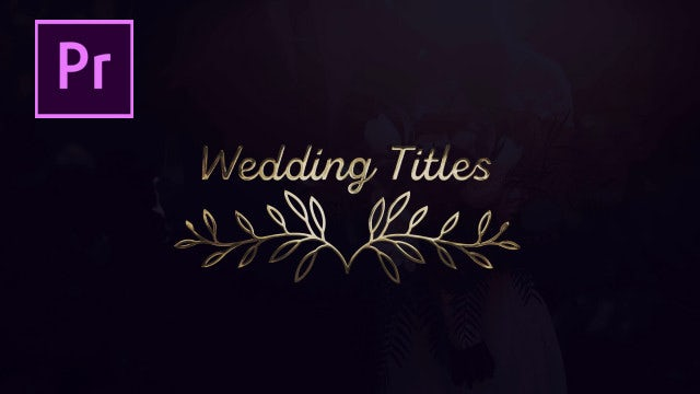 Wedding 4K: Motion Graphics Templates