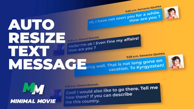 Clean Text Message Kit/ Autoresize: After Effects Templates