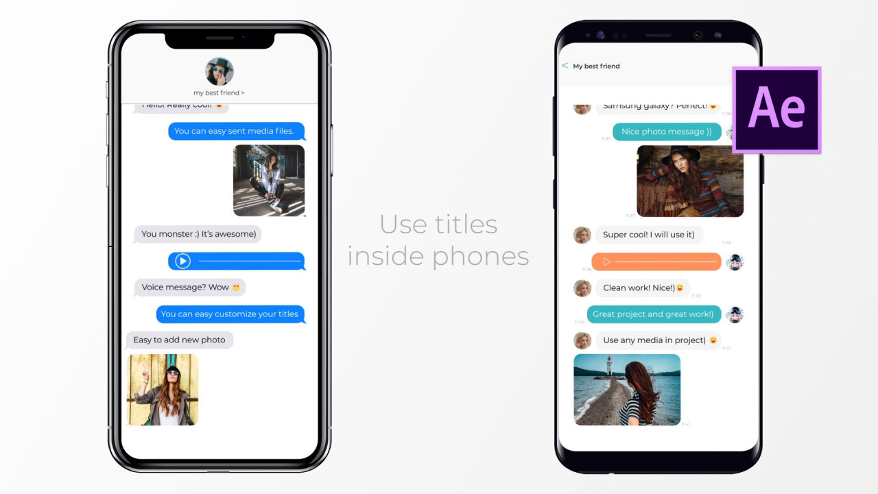 IOS And Android Messages - After Effects Templates   Motion