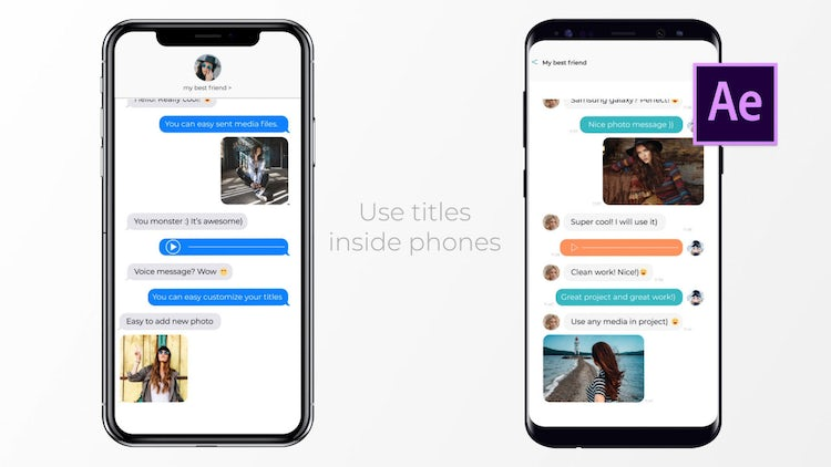 IOS And Android Messages: After Effects Templates