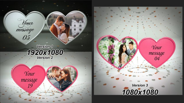 3D Rotating Heart Album: After Effects Templates