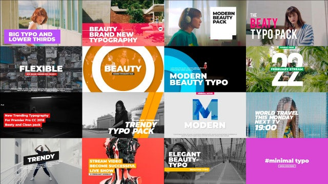 Beauty Typography Pack: Premiere Pro Templates