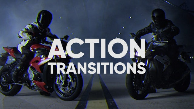 Action Transitions: After Effects Templates