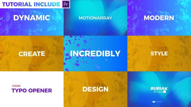 Typography Opener: Motion Graphics Templates