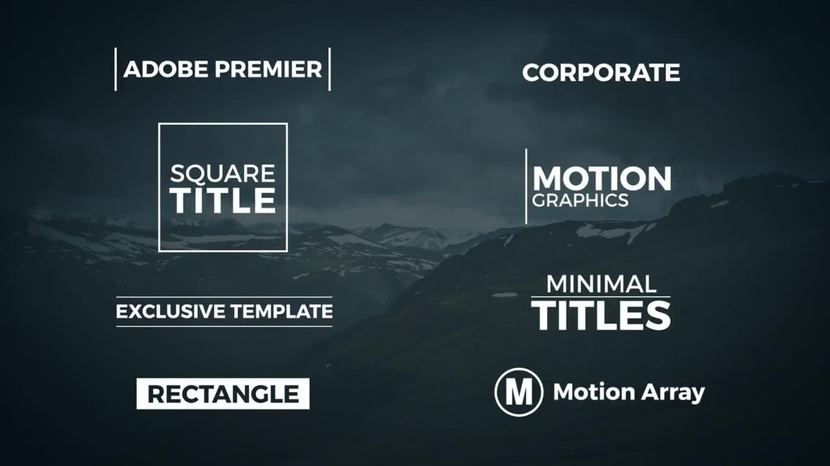 8 minimal titles premiere template premiere pro templates for Title templates premiere pro