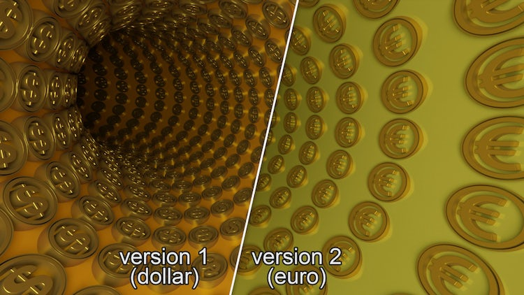 3D Coins Wormhole Tunnel Pack: Stock Motion Graphics