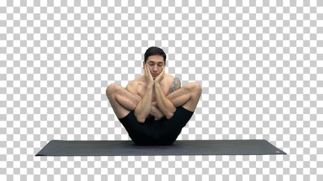 Yoga Pose On Alpha: Stock Video
