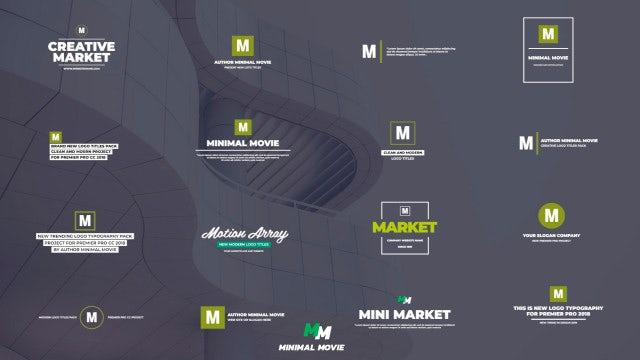 Modern Logo Titles: Premiere Pro Templates