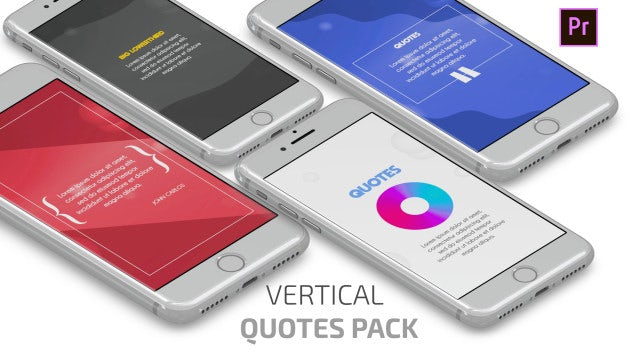 Clean Quotes Pack (Vertical): Motion Graphics Templates