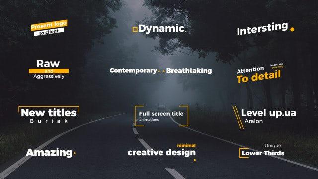 Unique Titles: After Effects Templates