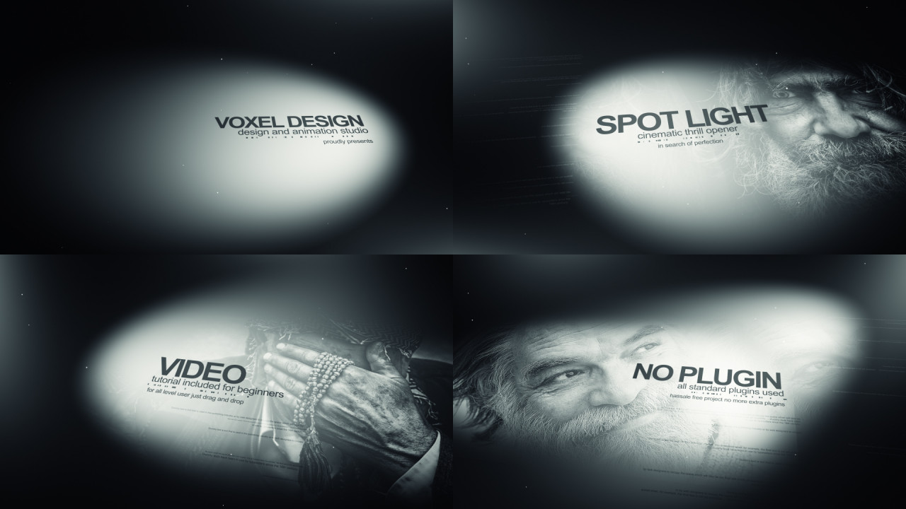 Spot Light History Cinematic Titles - After Effects Templates