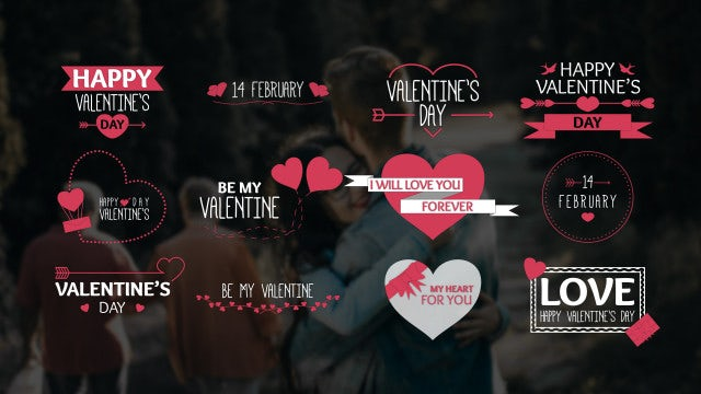 Valentine's Day Titles: Motion Graphics Templates
