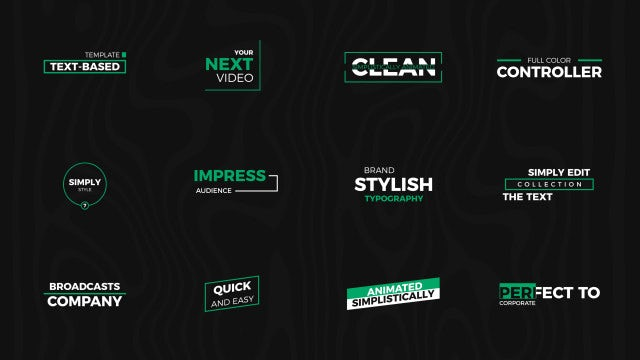Minimal Modern Titles: After Effects Templates