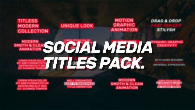 Social Media Titles Pack: Premiere Pro Templates