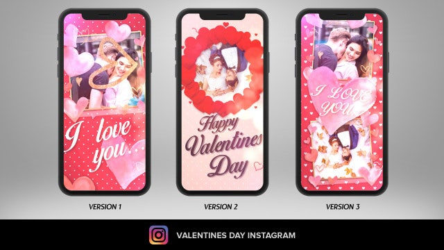 Valentines Day Instagram: After Effects Templates