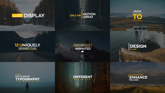 Wave Typography 4k: Motion Graphics Templates