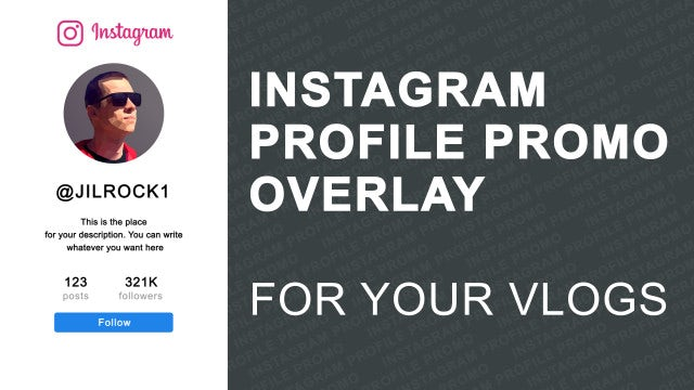 Instagram Profile Promo Overlay: After Effects Templates