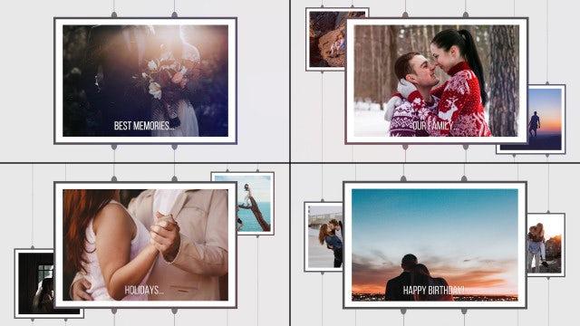 Wedding Memories. Clean Romantic Slideshow.: Premiere Pro Templates