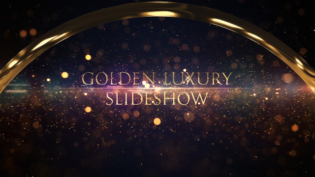 Golden Luxury Slideshow: After Effects Templates