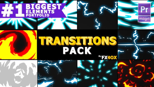 Dynamic Handy Transitions: Motion Graphics Templates