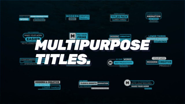 Multipurpose Titles: After Effects Templates