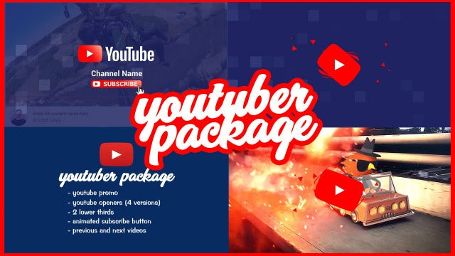 Youtuber Package: After Effects Templates