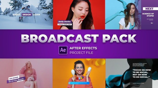 Modern Broadcast Pack: After Effects Templates