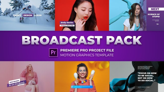 Modern Broadcast Pack: Motion Graphics Templates