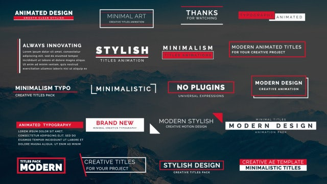 20 Animated Titles III: Motion Graphics Templates