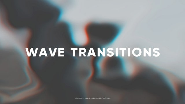Wave Transitions: After Effects Templates