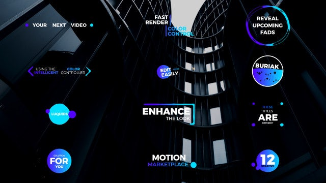 Liquid Creative Titles 4k: After Effects Templates