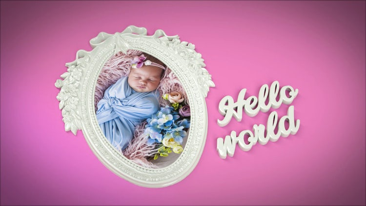 Baby 3D Album: After Effects Templates