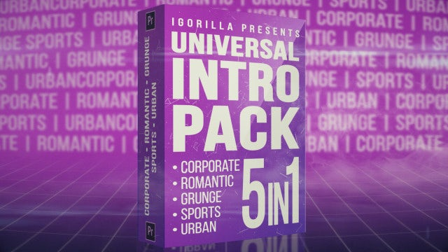 Universal Intro Pack: Premiere Pro Templates