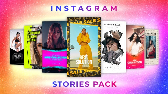 Instagram Stories Pack 12: Motion Graphics Templates