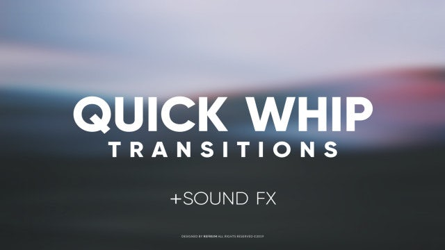 Quick Whip Transitions: After Effects Templates