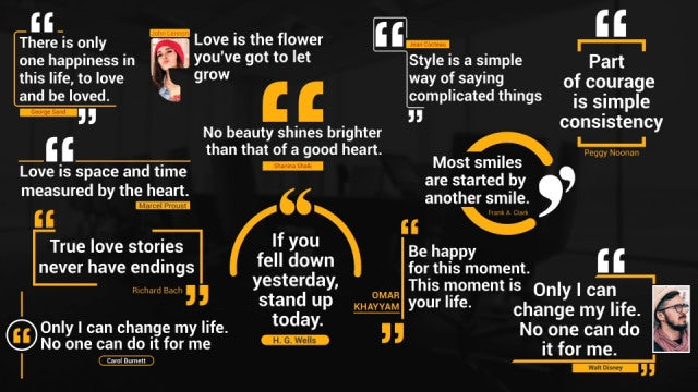 Quotes Titles Pack: After Effects Templates