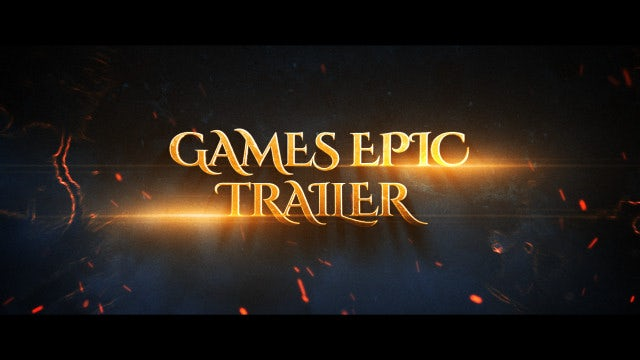 Games Epic Trailer: After Effects Templates