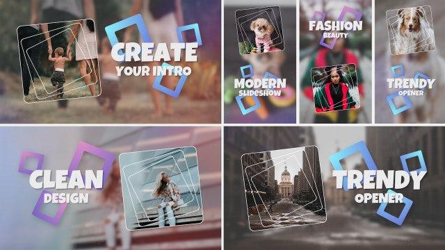 Trendy Stylish Dynamic Opener Slideshow: Premiere Pro Templates
